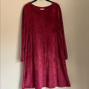 PURE JILL VELVET SHIFT DRESS SIZE L